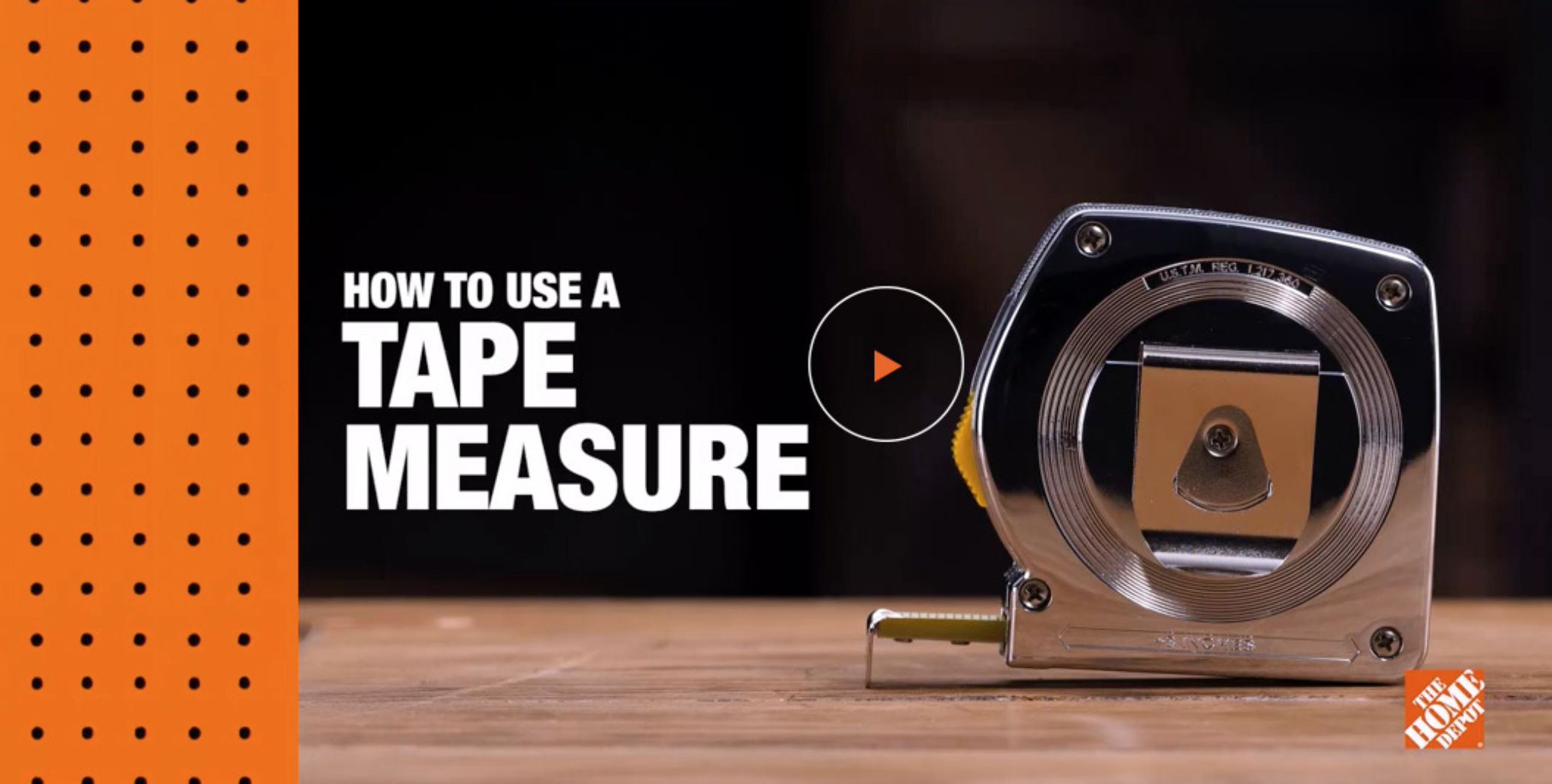 How to use a tape measure - video link from HomeDepot